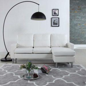 Divano Roma Modern White Sectional Sofa