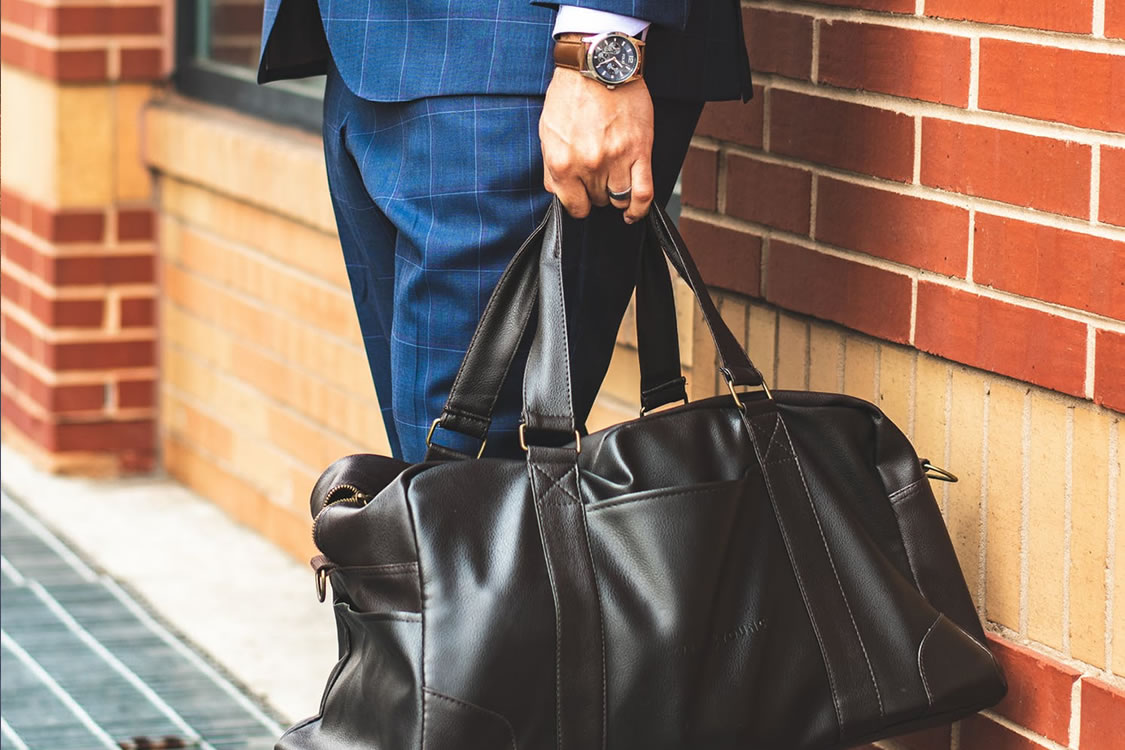 mens leather sport bag