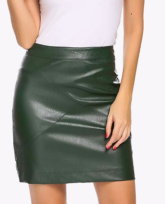 womens leather skirts
