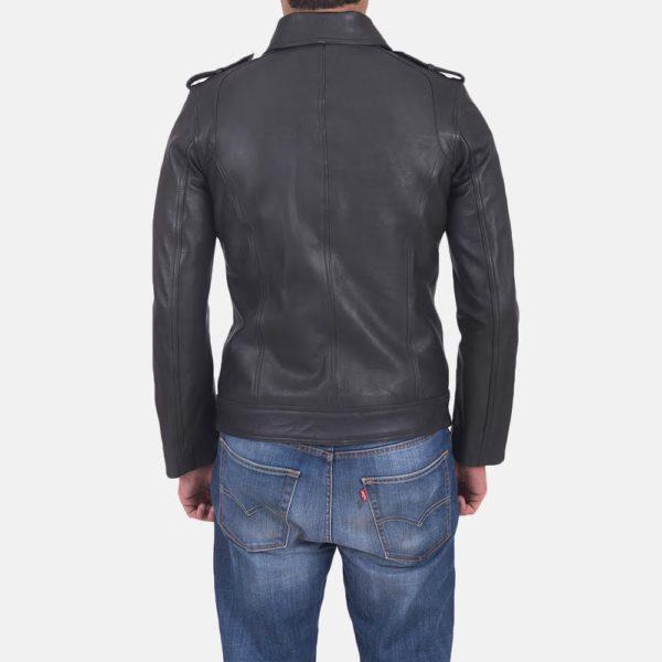 Sergeant Black Leather Jacket