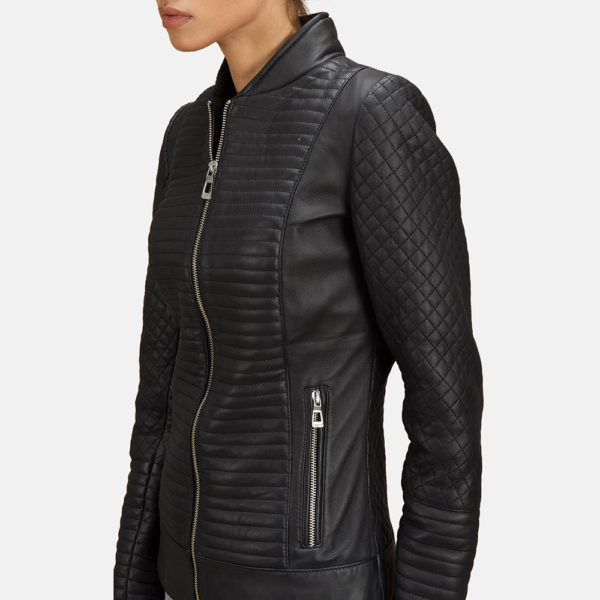 Cityscape Black Leather Biker Jacket