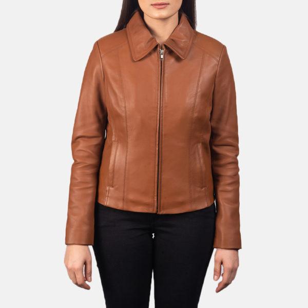 Colette Brown Leather Jacket