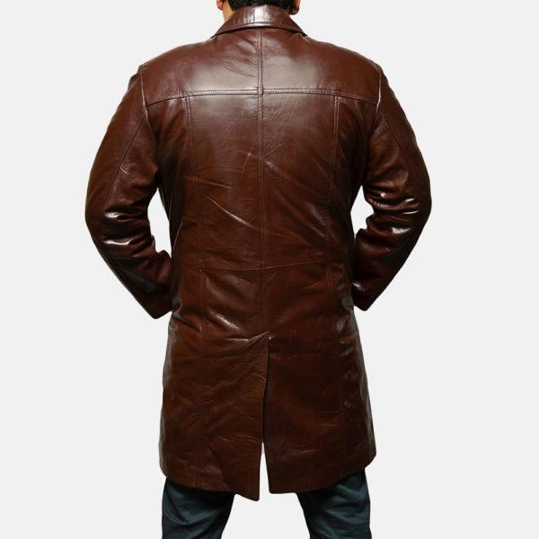 Rum Gum Brown Leather Coat
