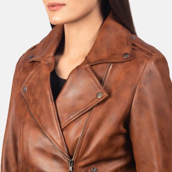 Flashback Brown Leather Biker Jacket