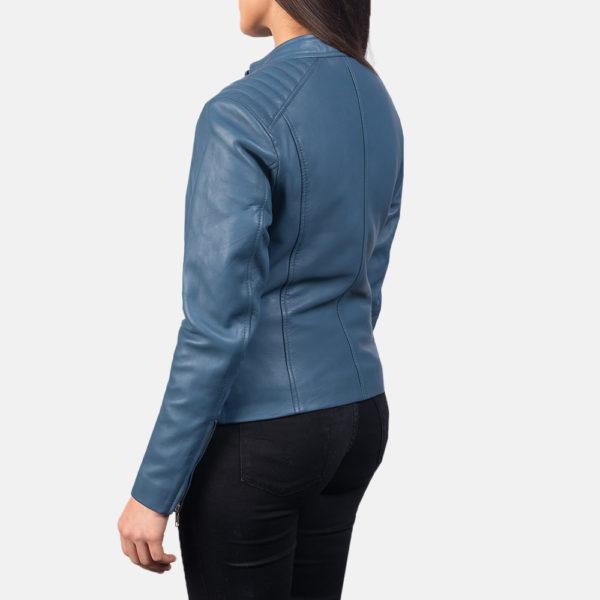 Kelsee Leather Biker Jacket