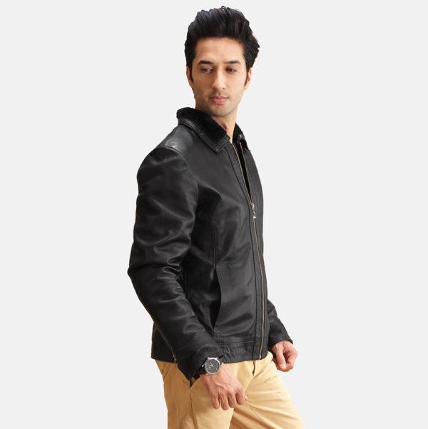 Thackery Black Leather Jacket