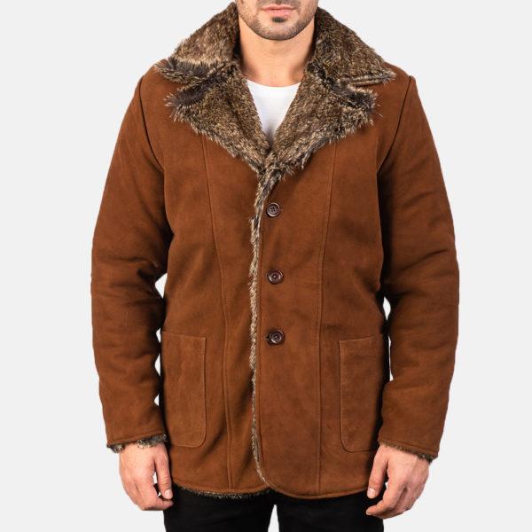 Furlong Brown Leather Coat