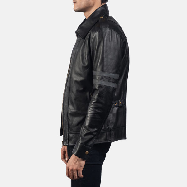 Armstrong Black Leather Biker Jacket