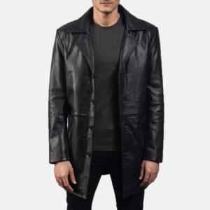 Classmith Black Leather Coat