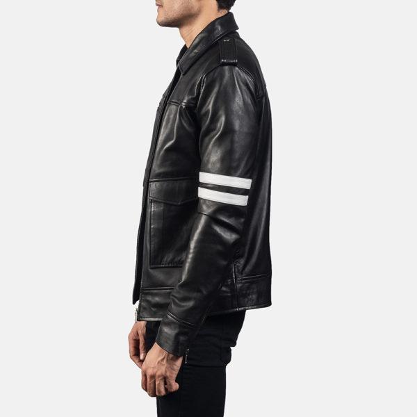Dragonhide Black Leather Jacket
