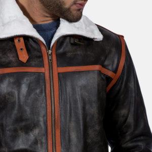 Alpine Brown Fur Leather Jacket