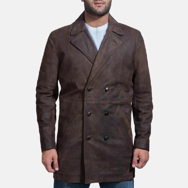 Half Life Brown Leather Coat