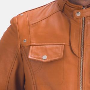Hans Tan Brown Leather Jacket