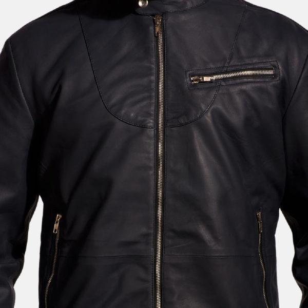 Moonblue Leather Biker Jacket