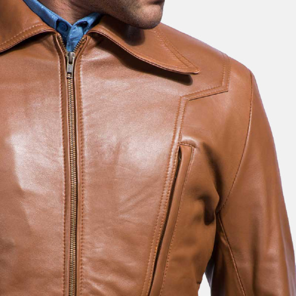 Old School Brown Leather Jacket