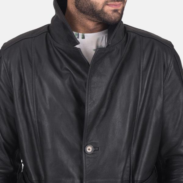 Daniel Black Leather Trench Coat