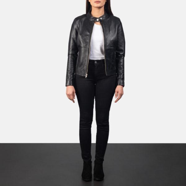 Rave Black Leather Biker Jacket