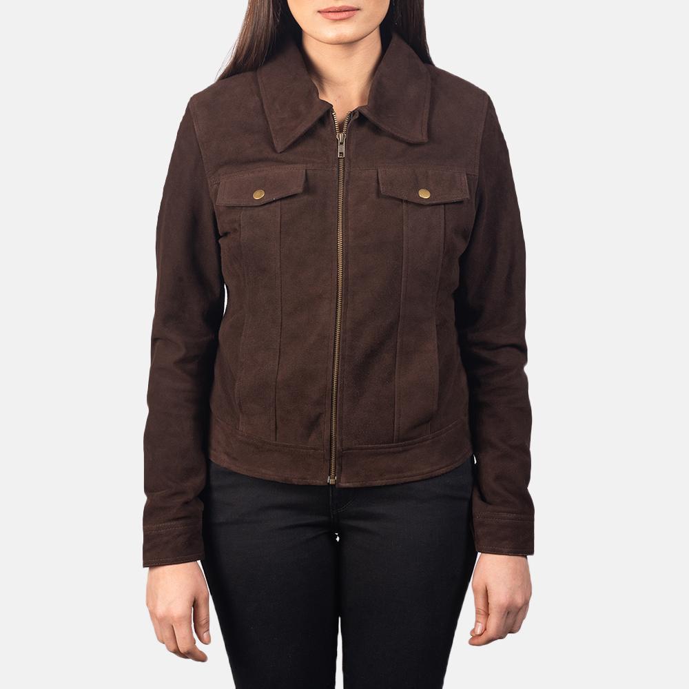 Suzy Mocha Suede Jacket
