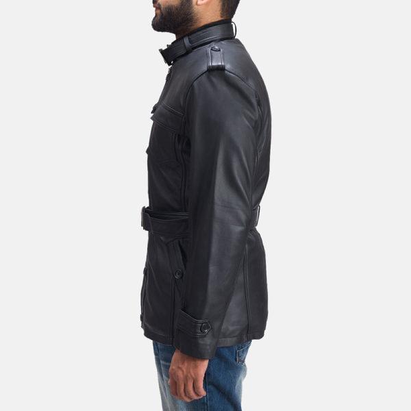 Hunter Black Leather Jacket