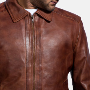 Inferno Brown Leather Jacket