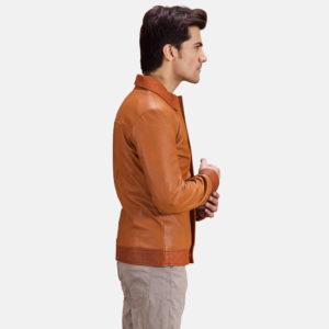 Hubert Tan Brown Leather Jacket