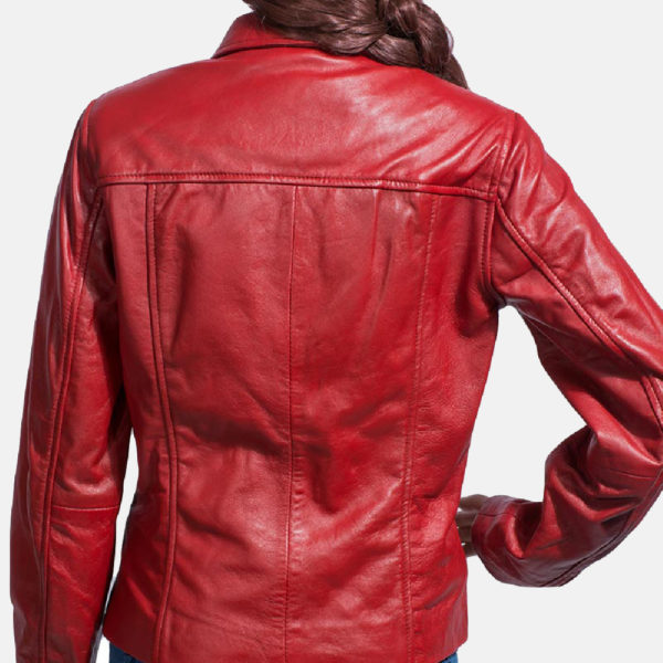 Tomachi Red Leather Jacket