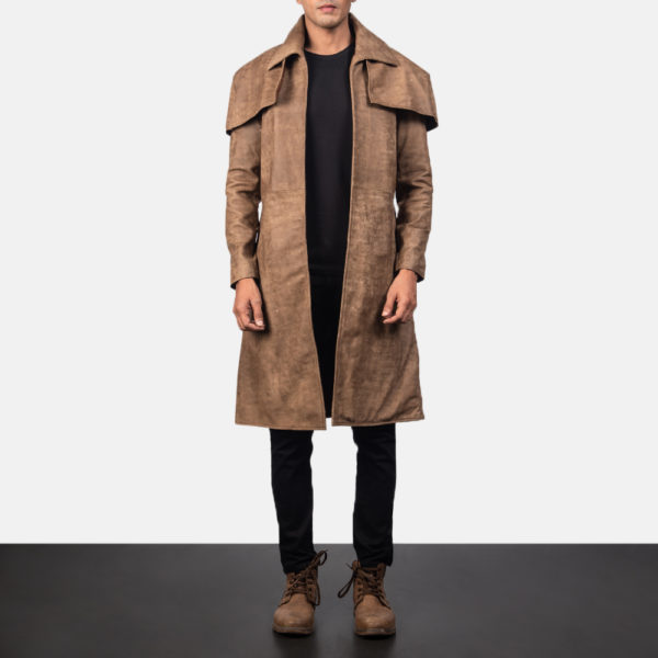 Classic Brown Leather Duster