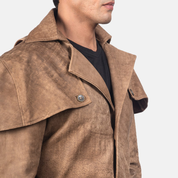 Deux Brown Leather Duster