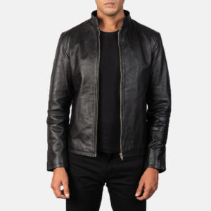 Alex Black Leather Biker Jacket