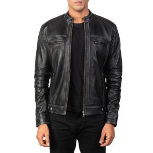 Youngster Black Leather Biker Jacket