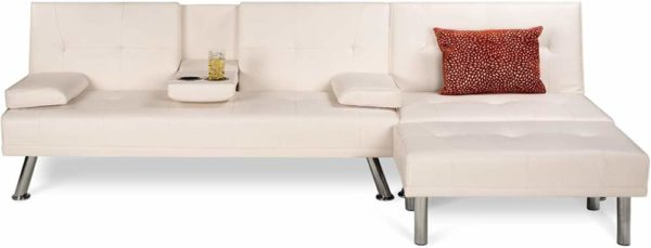 BCP 3-Piece Modern White Living Room Sectional Sofa 1