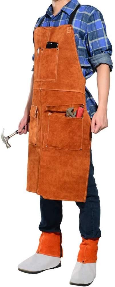 Leaseak Leather Welder Apron