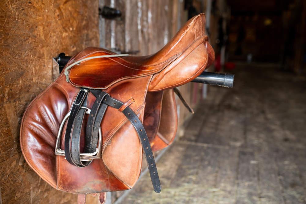 crazy horse leather saddle