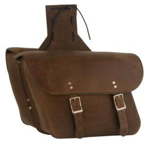 Brown Leather Motorcycle Saddlebags